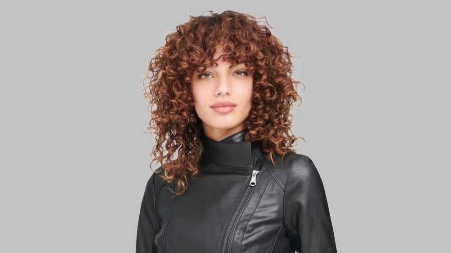 stretchy faux leather jacket