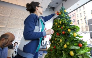 Chipotle Celebrates Holidays With Festive Window Display Built From Real Ingredients