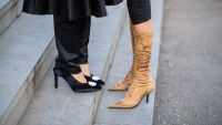 women in boots and heels