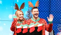 Kelly Ripa Ryan Twinning in Ugly Christmas Sweaters