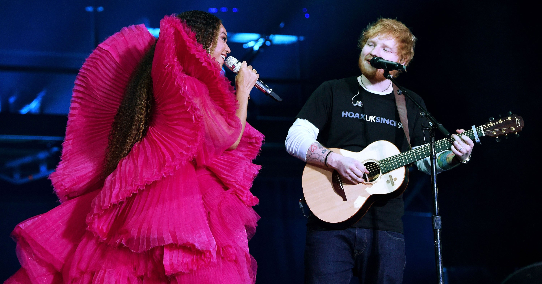 Ed Sheeran Defends Casual Outfit During Beyoncé Duet: 'Dress to Impress'