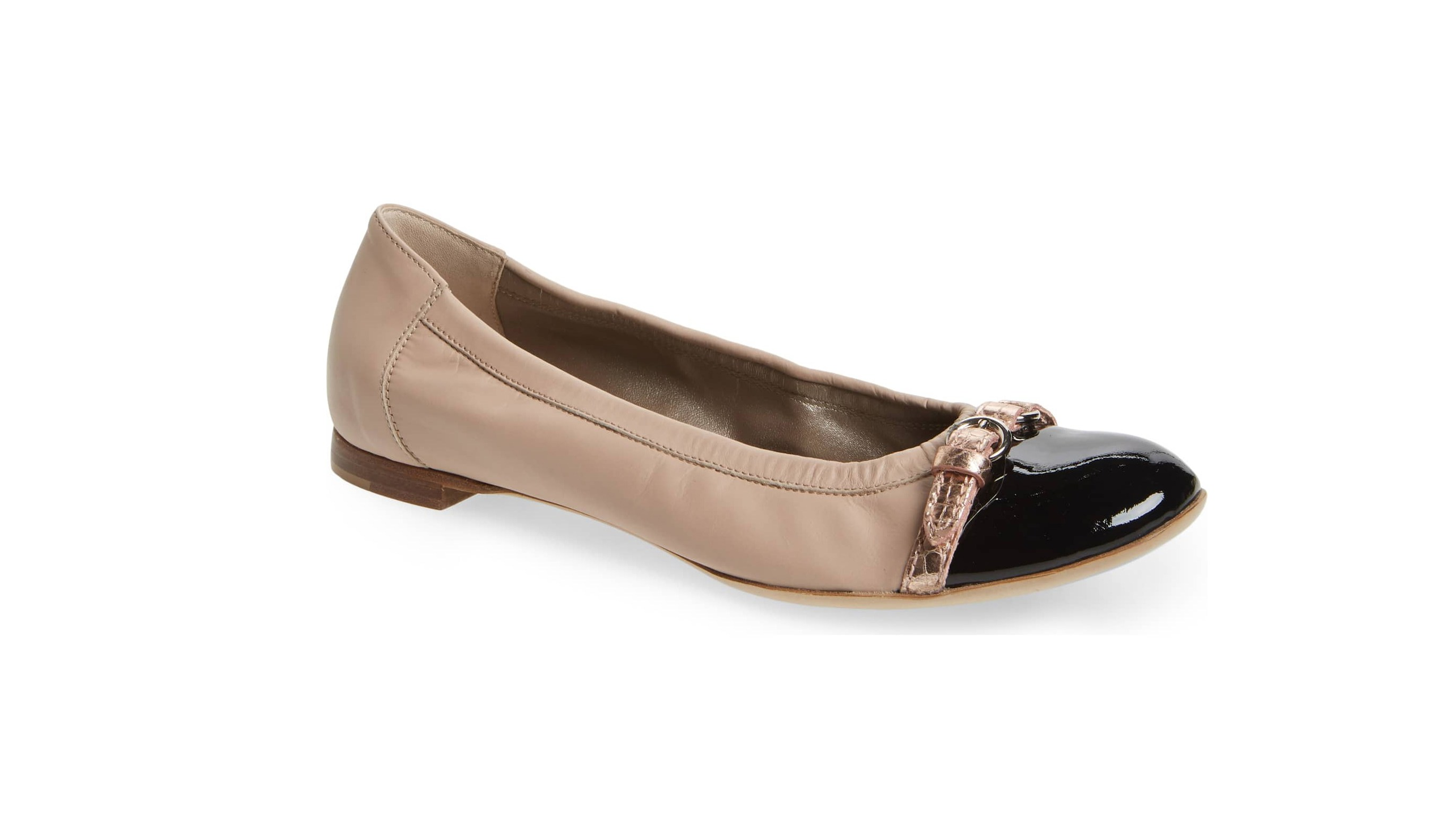 agl cap toe ballet flat