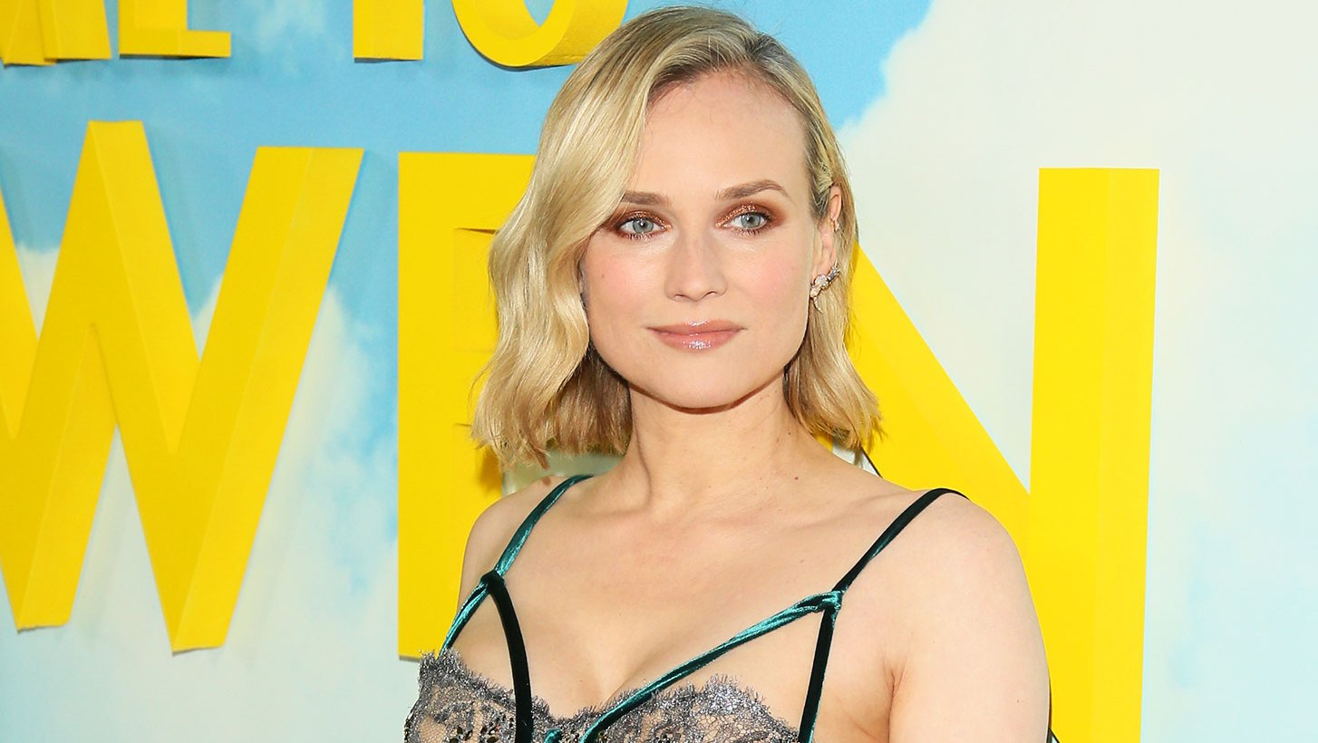 Diane Kruger motherhood floral dress premiere