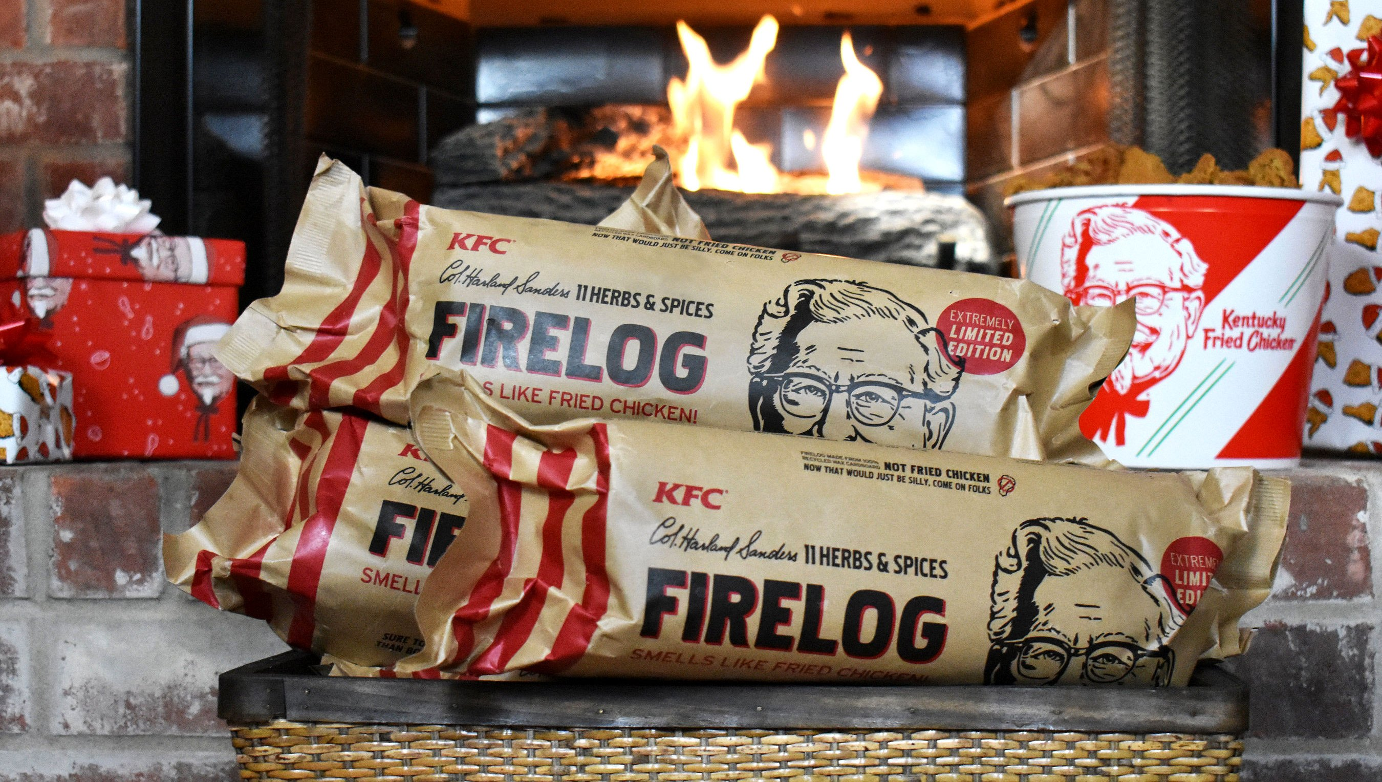 KFC's Herbs and Spices Firelog Fills Your House With Fried Chicken Smell