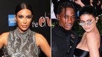 Kim Kardashian, Travis Scott, and Kylie Jenner