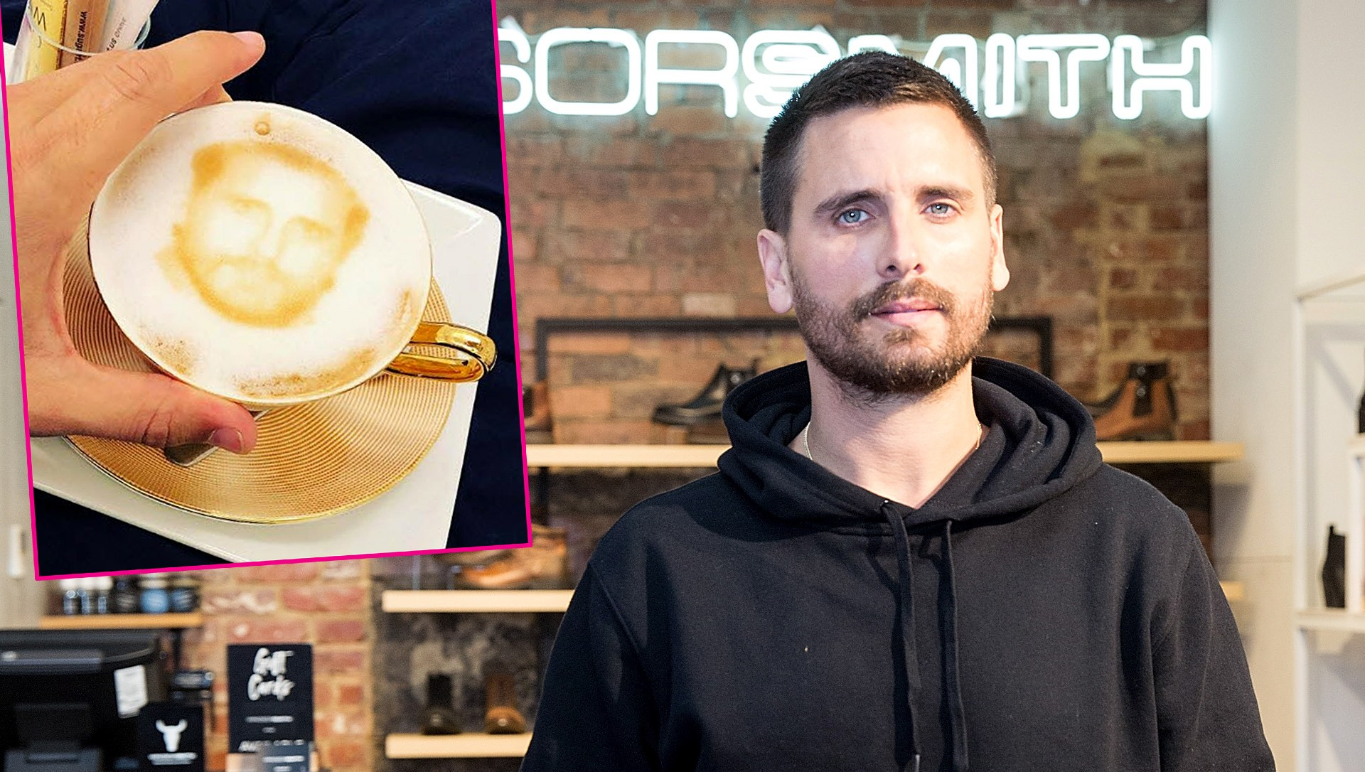 Scott Disick Drank a Beverage With a Foam Art Version of His Face on It: 'Lord Tea'