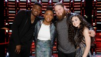 who-won-the-voice Kennedy Holmes, Kirk Jay, Chris Kroeze and Chevel Shepherd