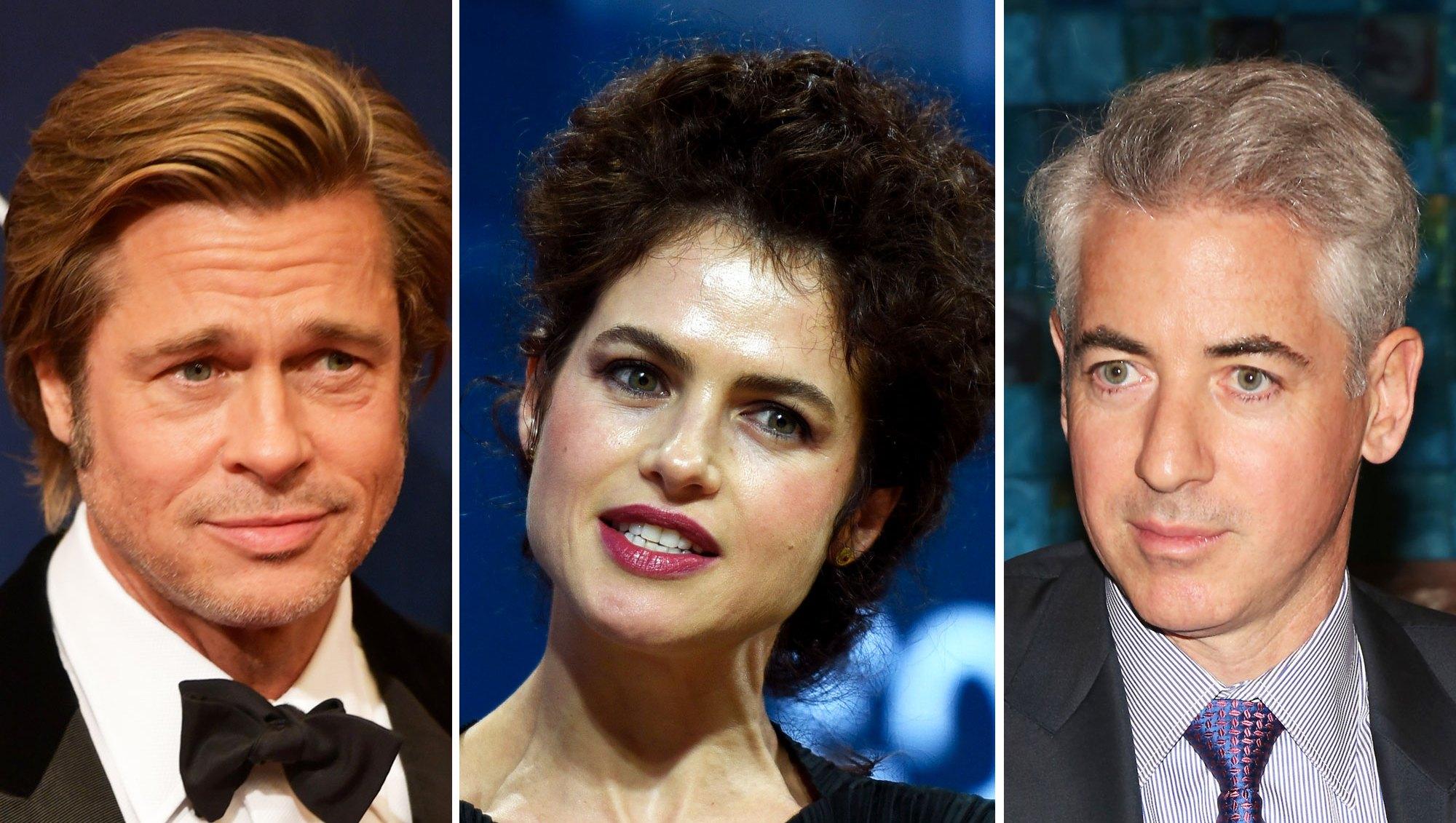 Brad Pitt, Neri Oxman and Bill Ackman