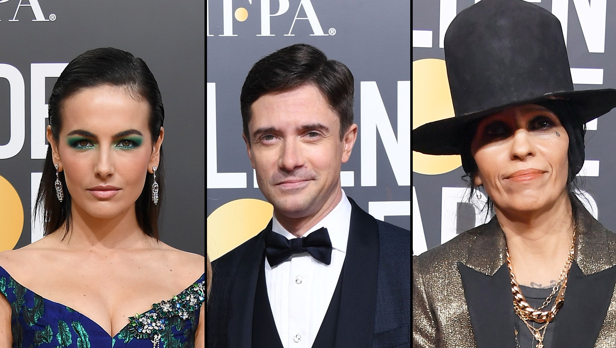 Camilla Belle Topher Grace Linda Perry Golden Globes 2019 Stars Reveal Their Red Carpet Rituals and Hangover Cures