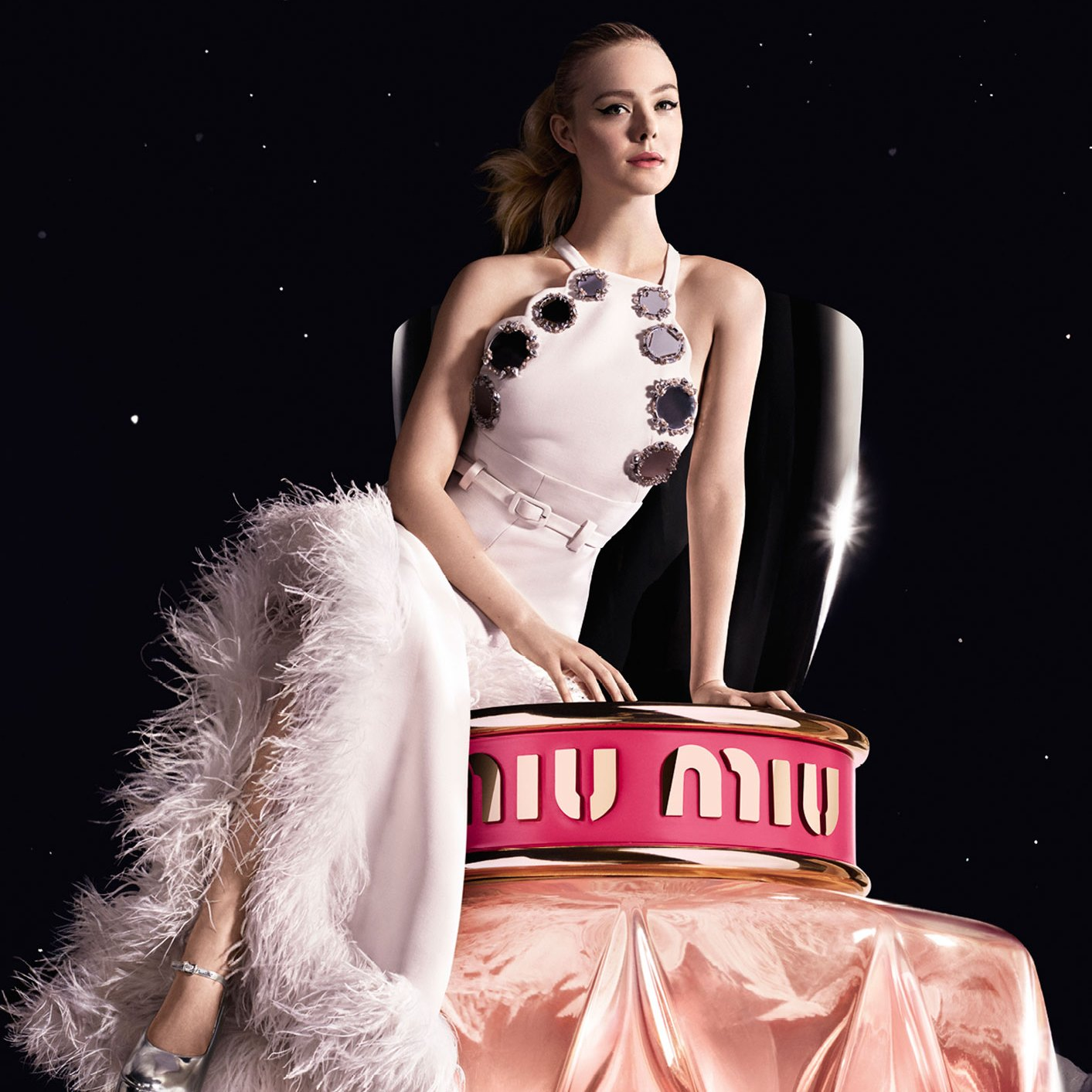 Elle Fanning Is Pretty in Pink in Miu Miu Campaign