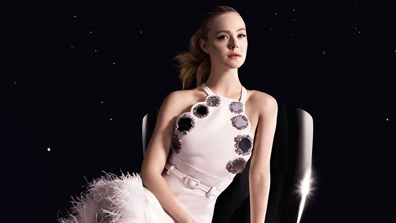 Elle Fanning Is Pretty in Pink in Miu Miu Campaign