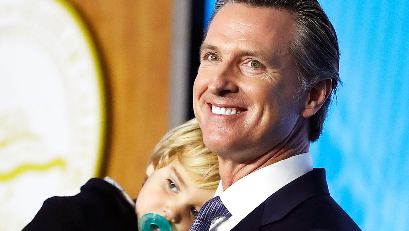 Gavin Newsom 2 year old California Governor's Toddler Interrupts Inaugural Address