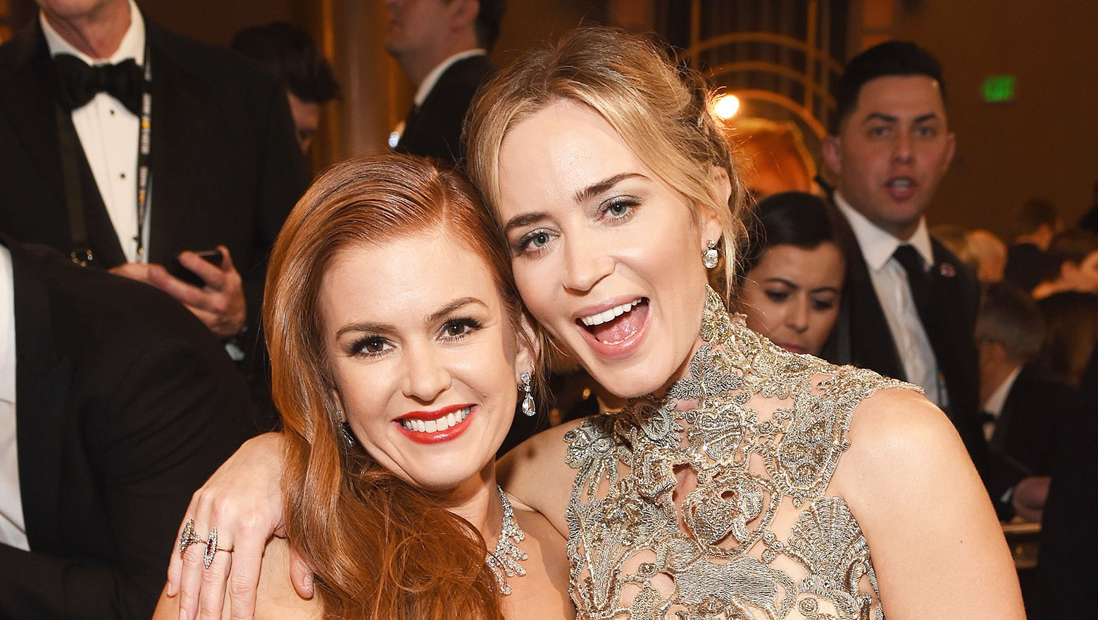 Inside Golden Globes 2019 Isla Fisher and Emily Blunt