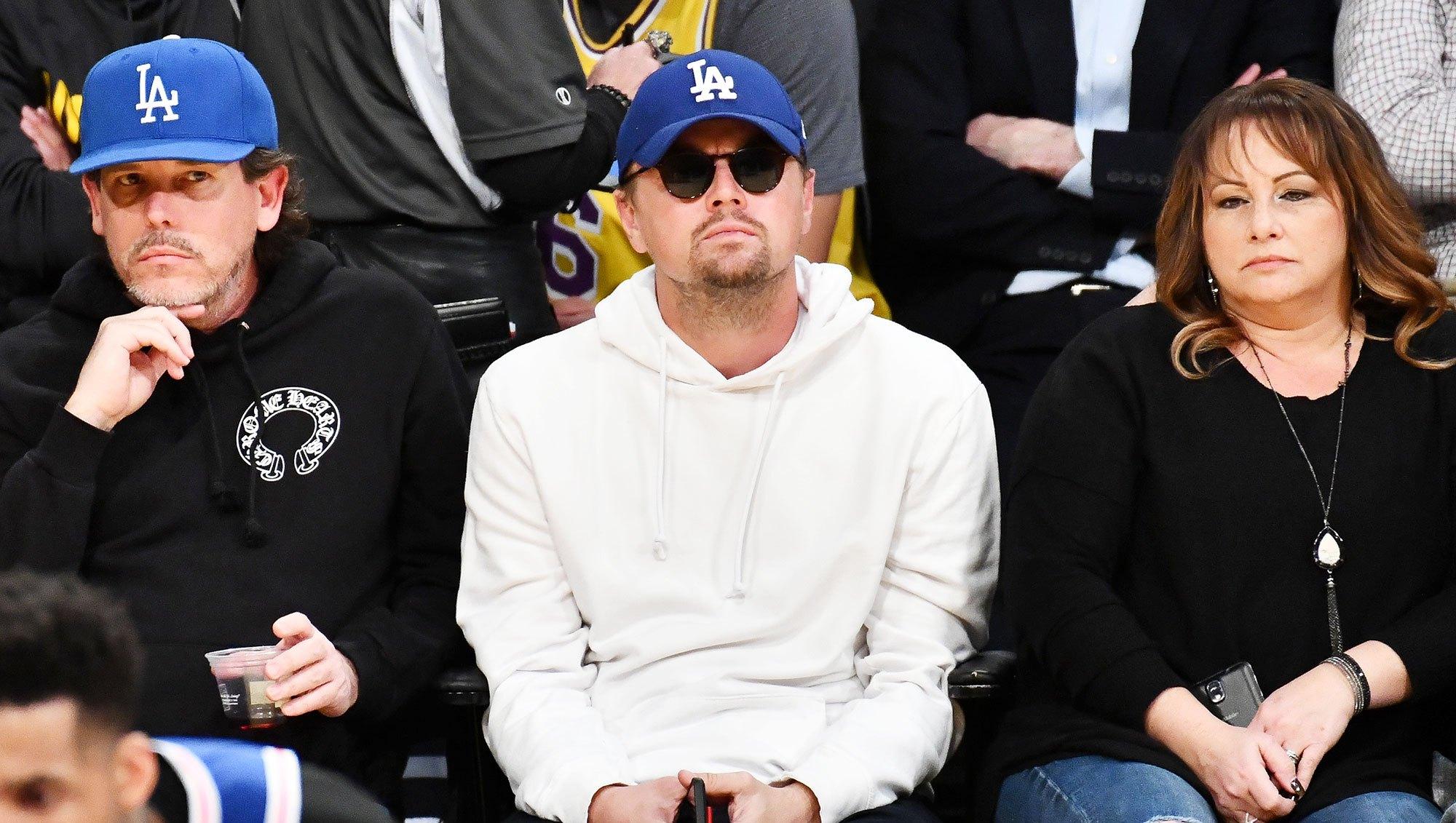 Leonardo DiCaprio Lakers Game Hiding In Plain Sight