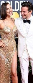 Irina Shayk and Bradley Cooper attend the 76th Annual Golden Globe Awards 2019