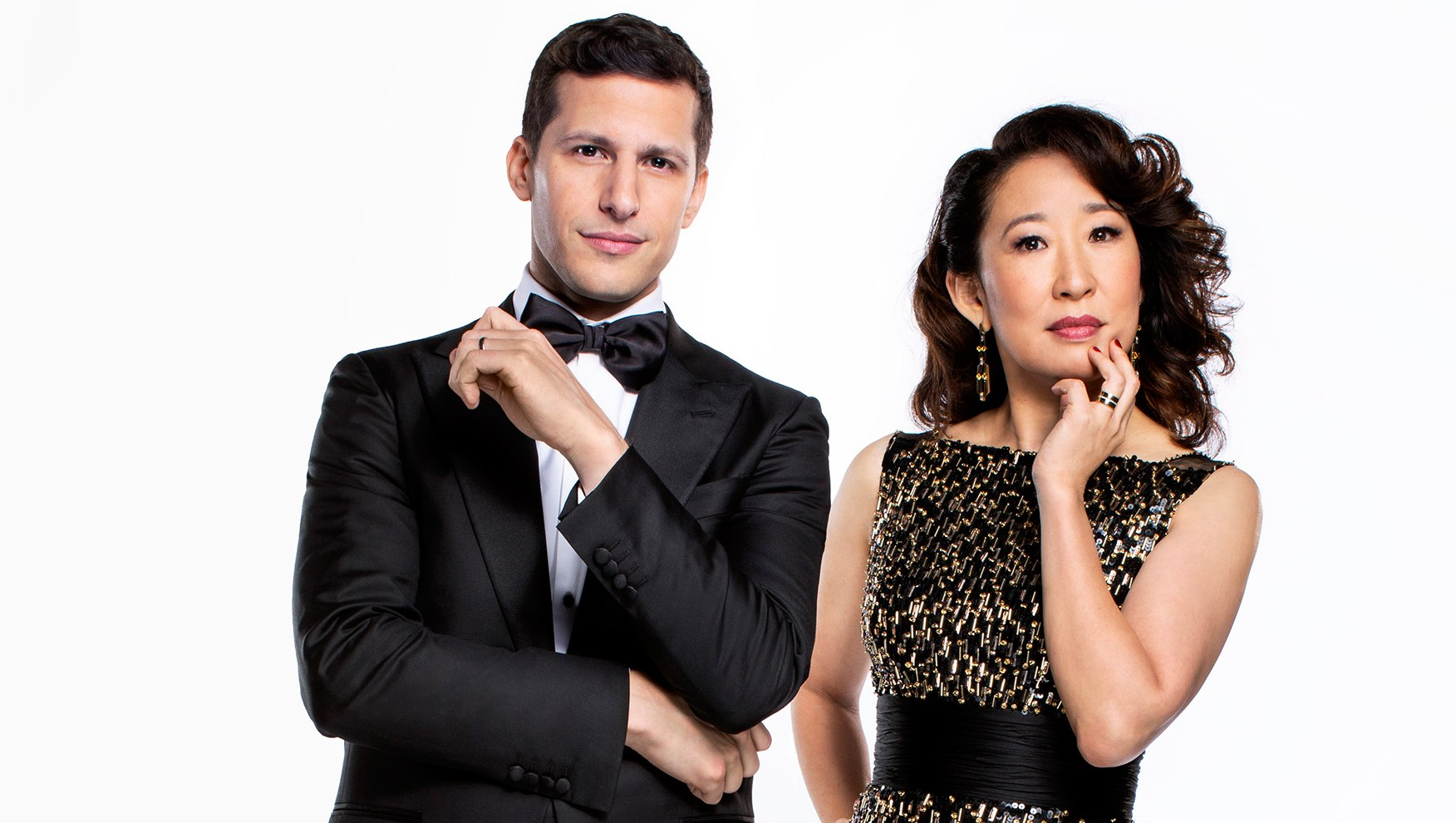 Andy Samberg and Sandra Oh golden globes 2019