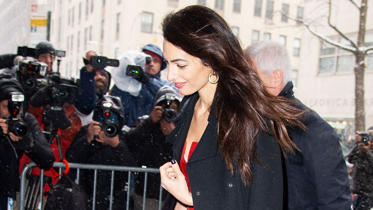 Amal Clooney Goes Red Hot in Her for Latest Look Duchess Meghan¹s Shower