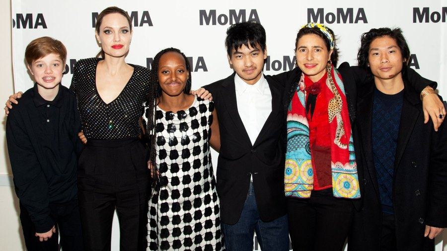 Angelina Jolie Steps Out With Her Kids