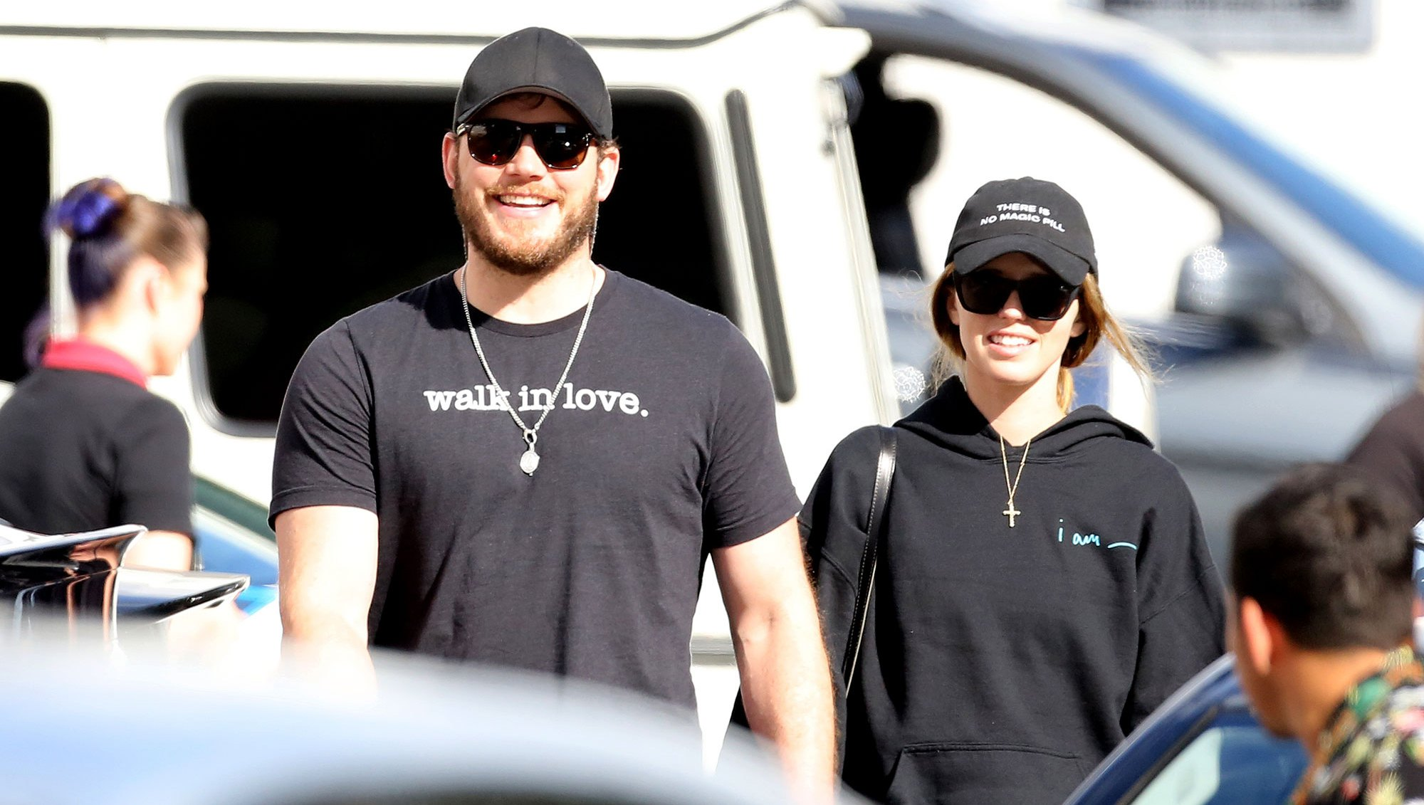 Chris Pratt and Katherine Schwarzenegger Chris Pratt Hilariously Trolls Himself on Fiancee Katherine's IG