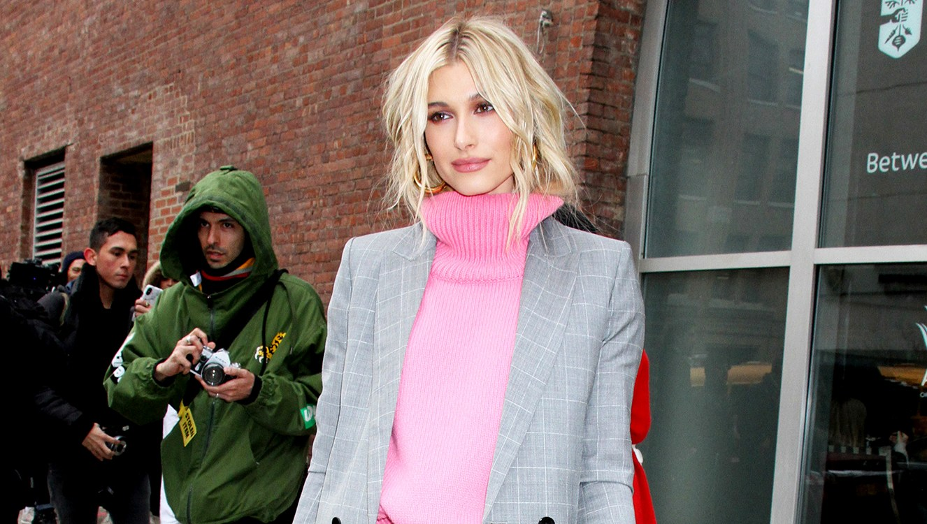 Hailey Baldwin Is the Latest Star to Bring Back the '90s Pantsuit