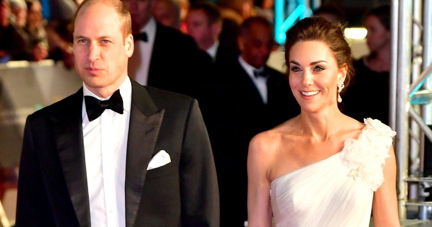 Baftas: Kate Middleton In White Gown On 2019 BAFTA Red Carpet: Pics