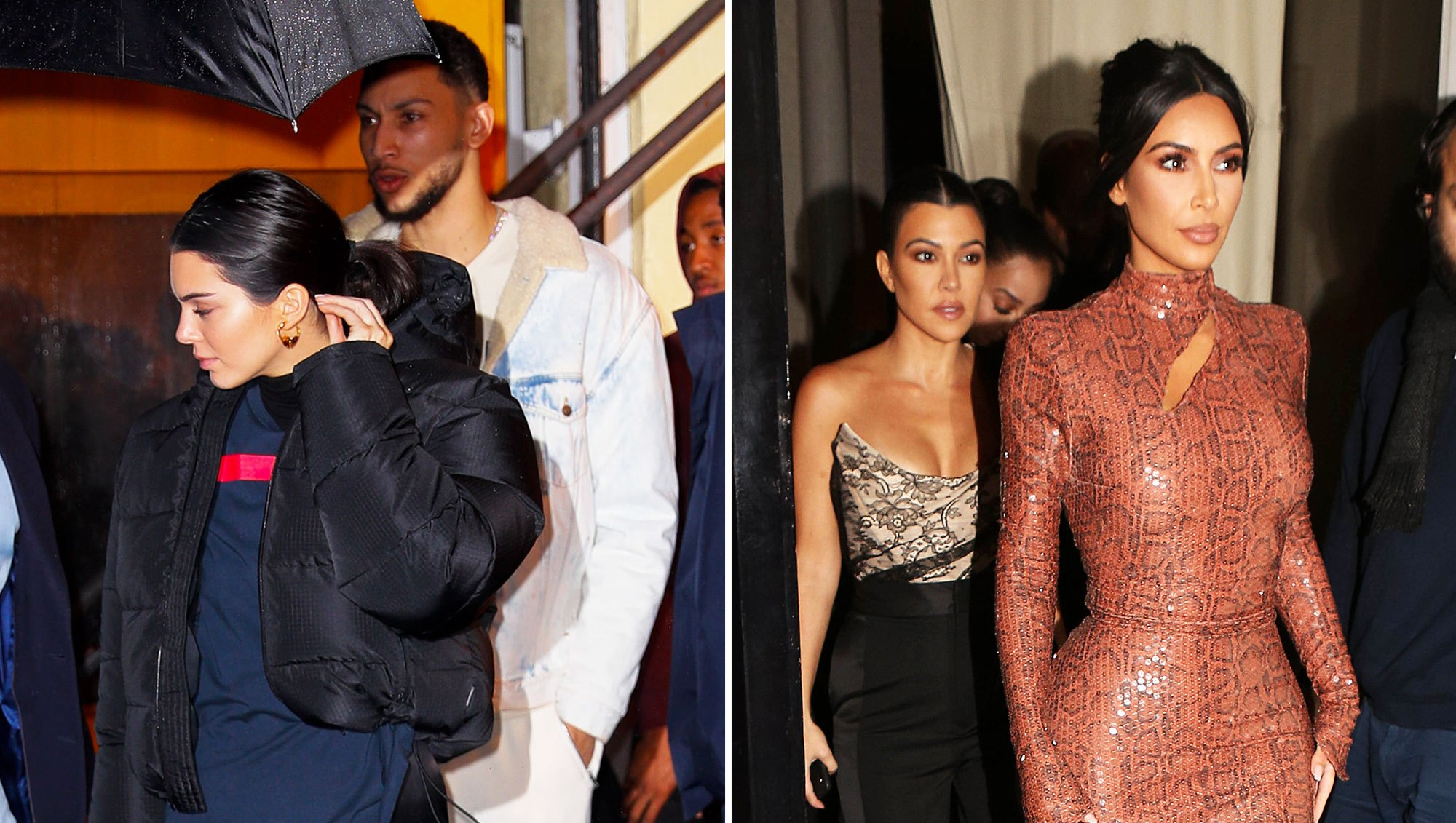 Kendall Jenner and Ben Simmons Dine Out With Kim and Kourtney Kardashian in NYC