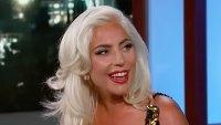 Lady Gaga Reacts Bradley Cooper Romance Rumors Jimmy Kimmel Live