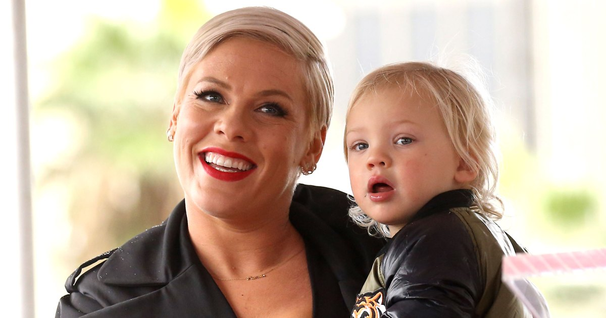 Pink's Son Jameson, 2, Rides an Electric Bike in New Video