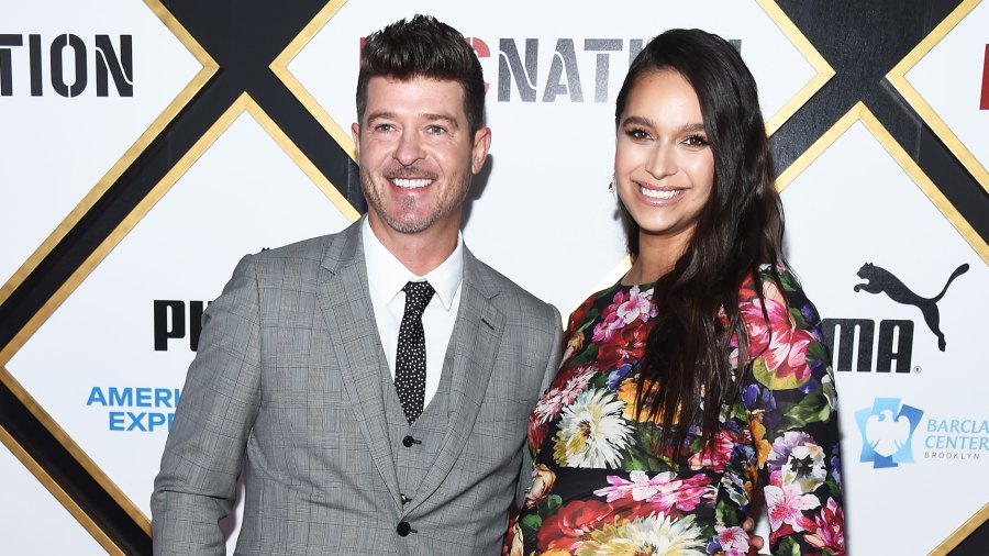 Robin Thicke Spoiling Fiancee April Love Geary Before Baby No. 2 Birth