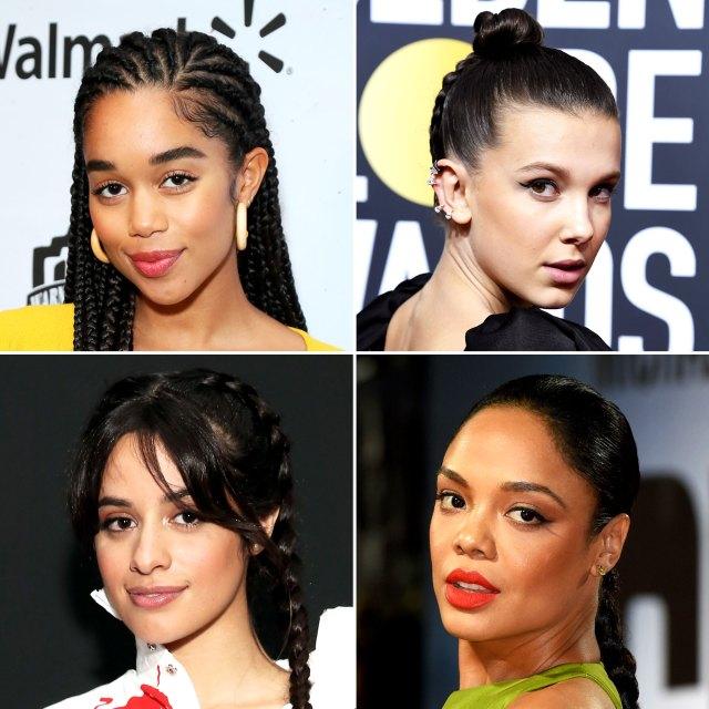 celeb braid hairstyle ideas: camilla cabello, jennifer lopez