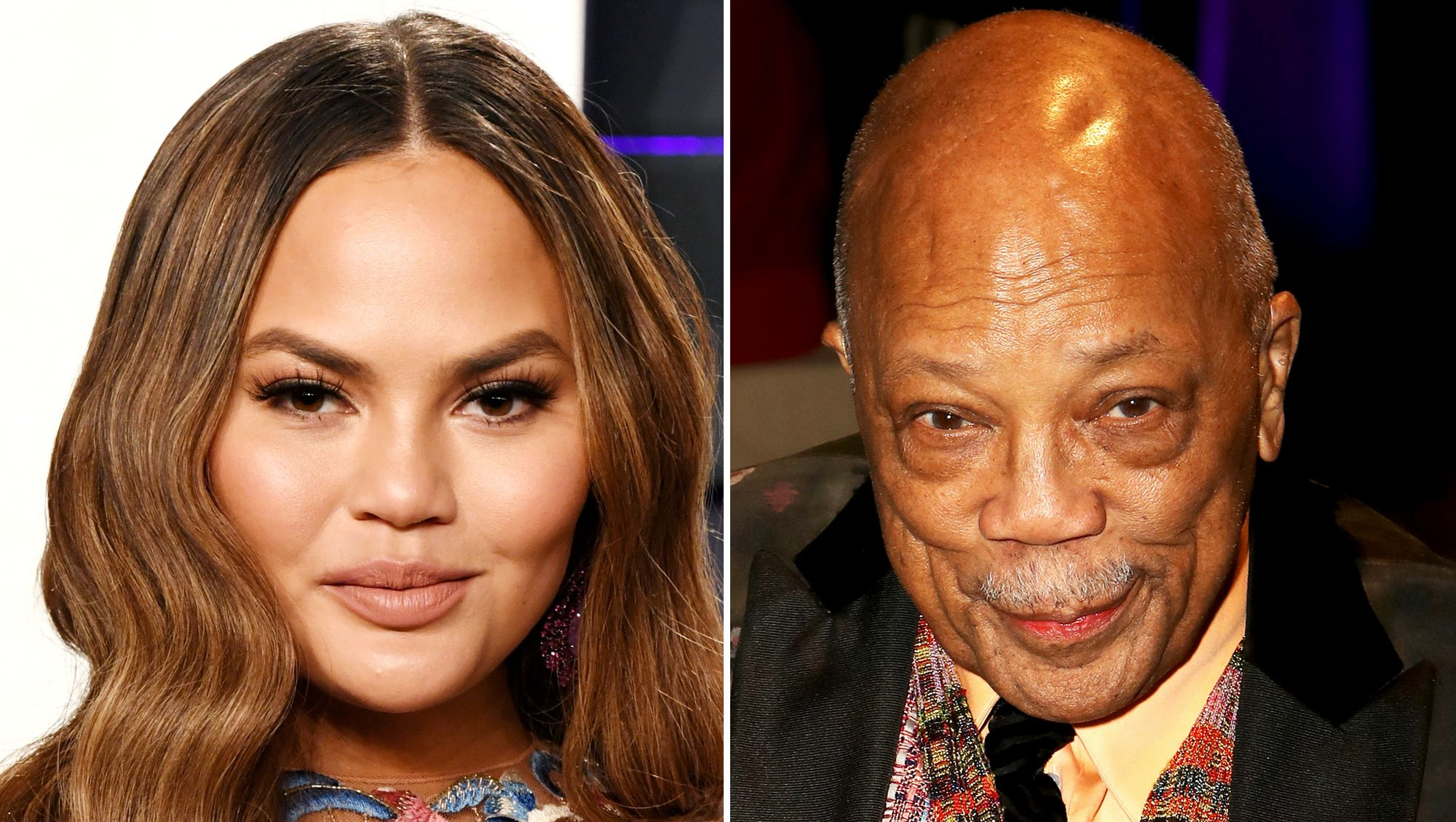 Chrissy Teigen 'Stole Some Shrimp' From Quincy Jones' Plate at Oscar Afterparty Chrissy Teigen Quincy Jones