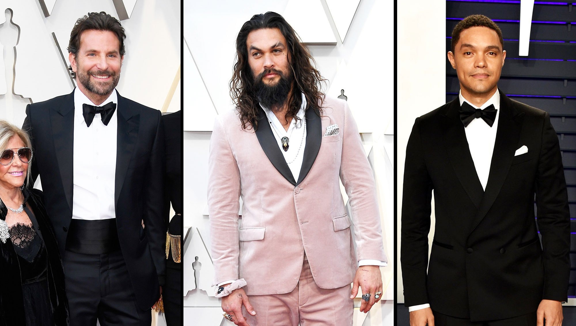Bradley Cooper, Jason Momoa and Trevor Noah Hottest Hunks at the 2019 Oscars