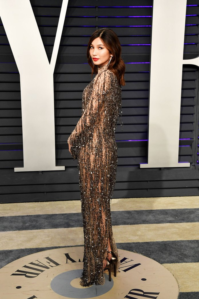 Gemma Chan Stars Bring the Sizzling Nearly Naked Dress Trend to the Oscars