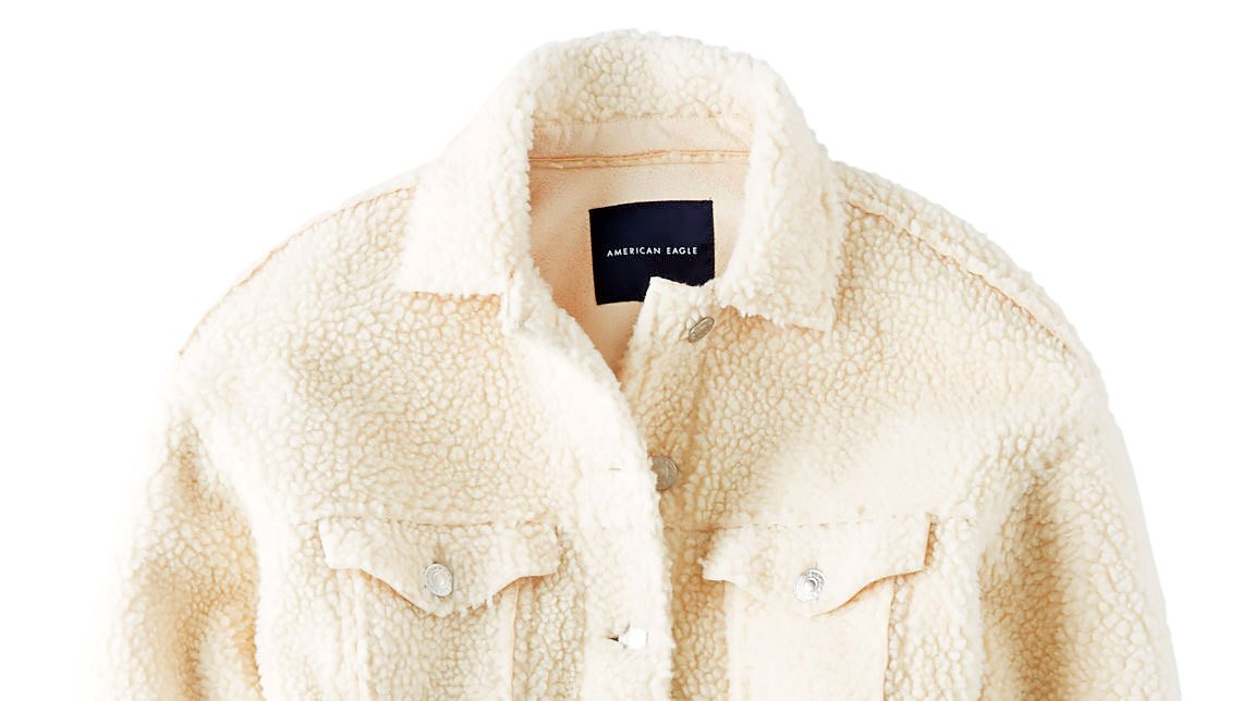 Buzzzz-o-Meter: Stars Are Buzzing About These Jackets Ae Faux Sherpa Jackets