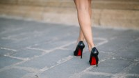 woman in christian louboutins