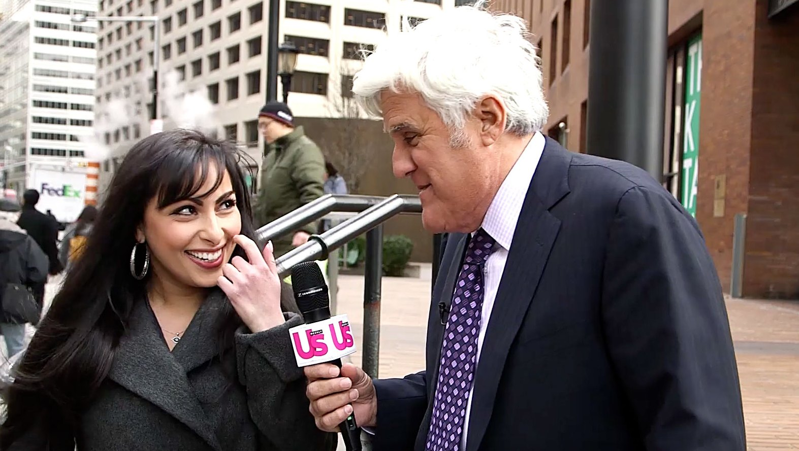 Jay Leno Stumps New Yorkers During an Us Weekly Version of Celebrities vs Politics 'Jaywalking' Segment: Watch!