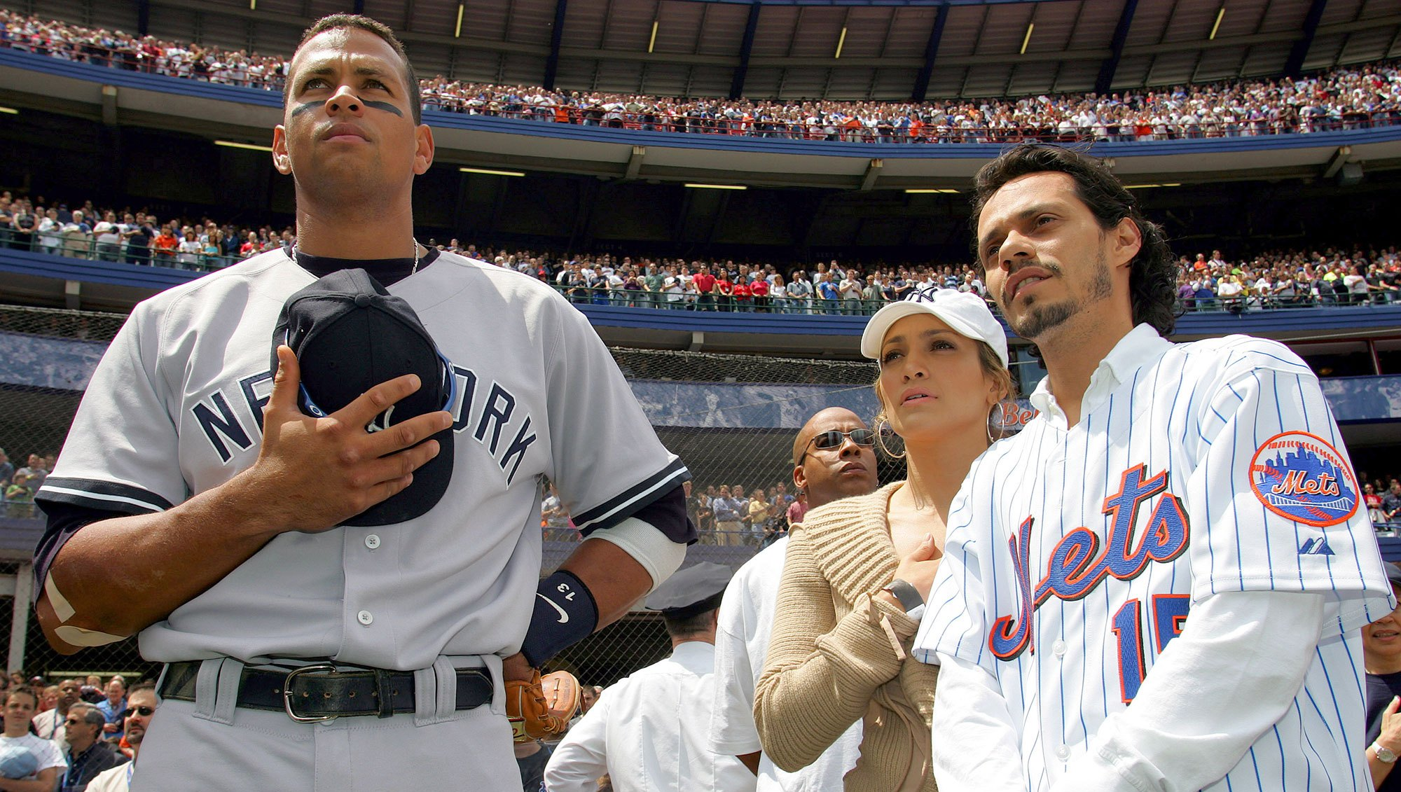 Old Photo of Jennifer Lopez, Alex Rodriguez and Marc Anthony Becomes Meme After Engagement News