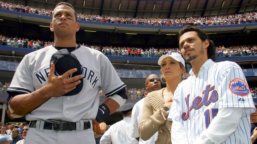 Old Photo of J. Lo, A-Rod and Marc Becomes Meme After Engagement
