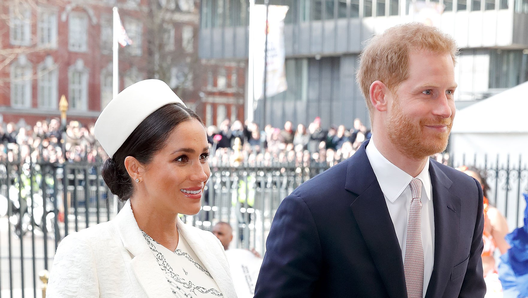Prince Harry and Pregnant Duchess Meghan Attend His Cousin Zara Tindall's Daughter's Christening