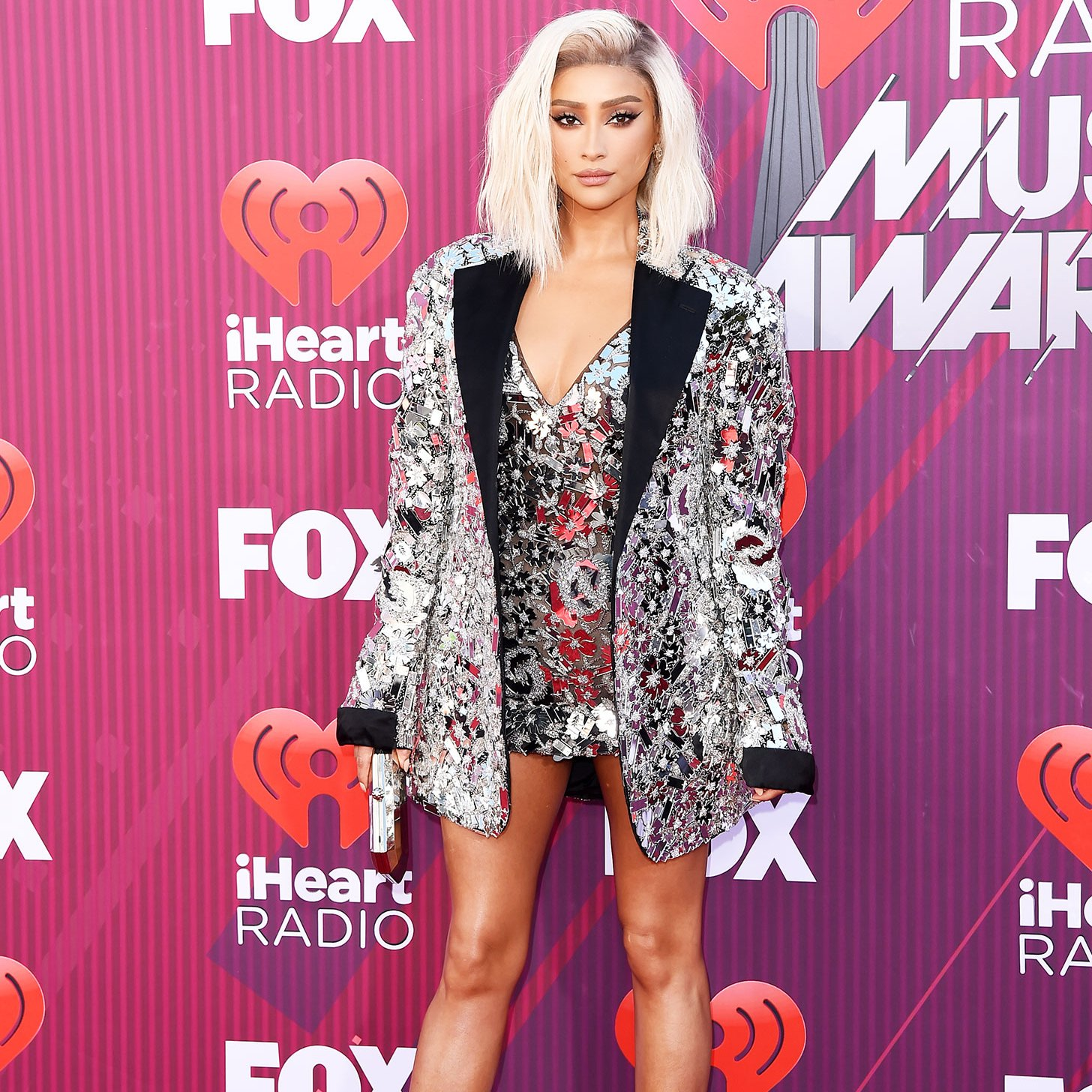 Shay Mitchell Embraces the Pantsless Trend at the iHeartRadio Awards