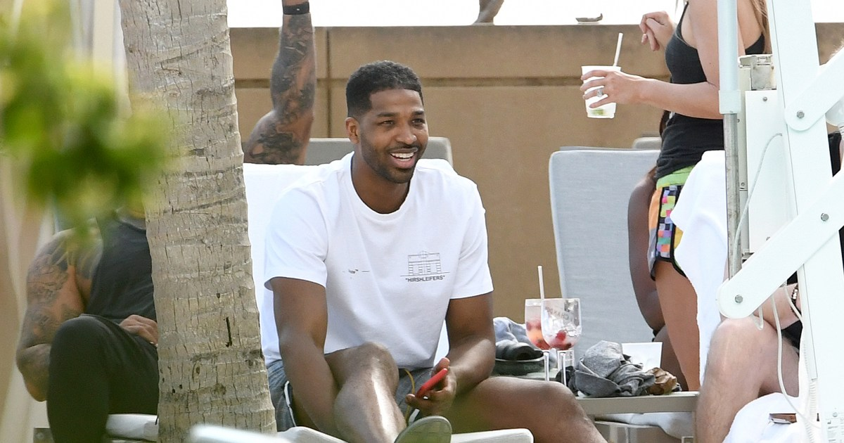 Tristan Thompson Relaxes at Pool Party With Women After Khloe Split