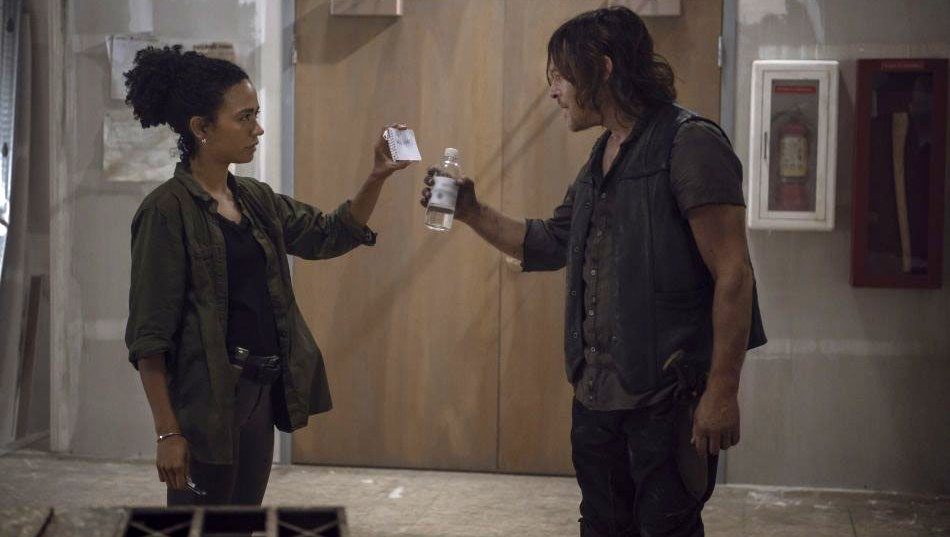 Walking Dead Norman Reedus and Lauren Ridloff on their character ship
