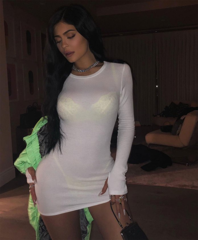 Kylie Jenner's Version of the Naked Dress Includes Neon Lingerie