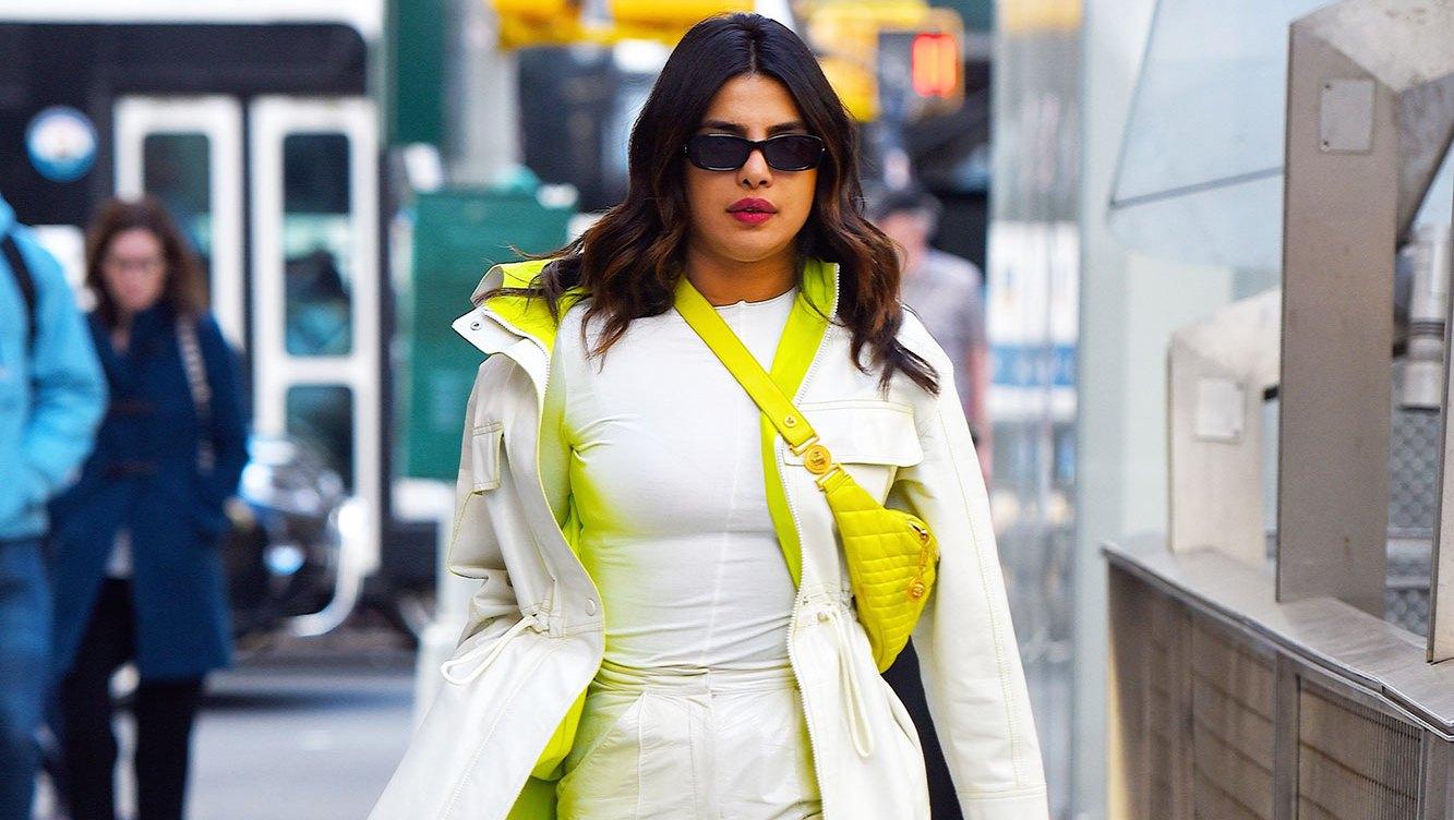 Priyanka Chopra spring style outfits white neon green