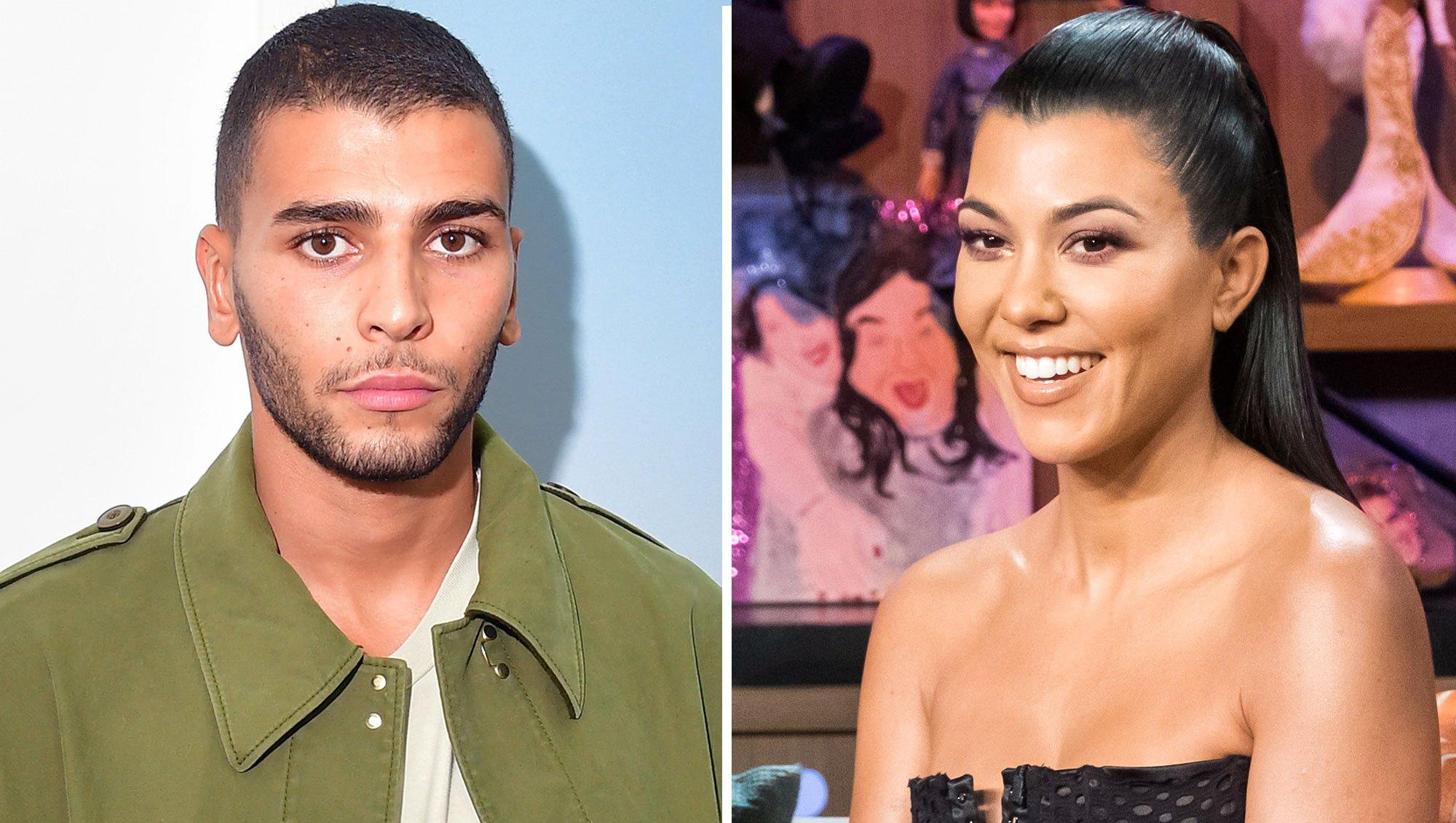 Younes Bendjima and Kourtney Kardashian Exchange Flirty Messages on Instagram