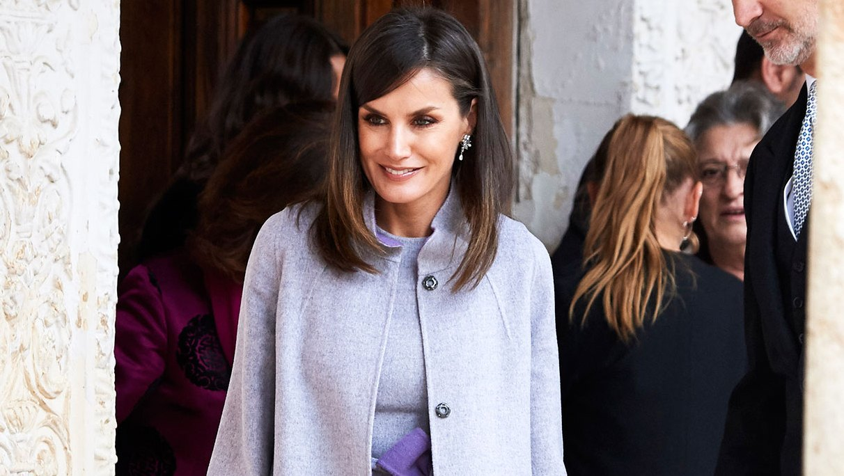 Queen Letizia of Spain Queen Letizia Makes a Lavender Outfit Look Grown-Up