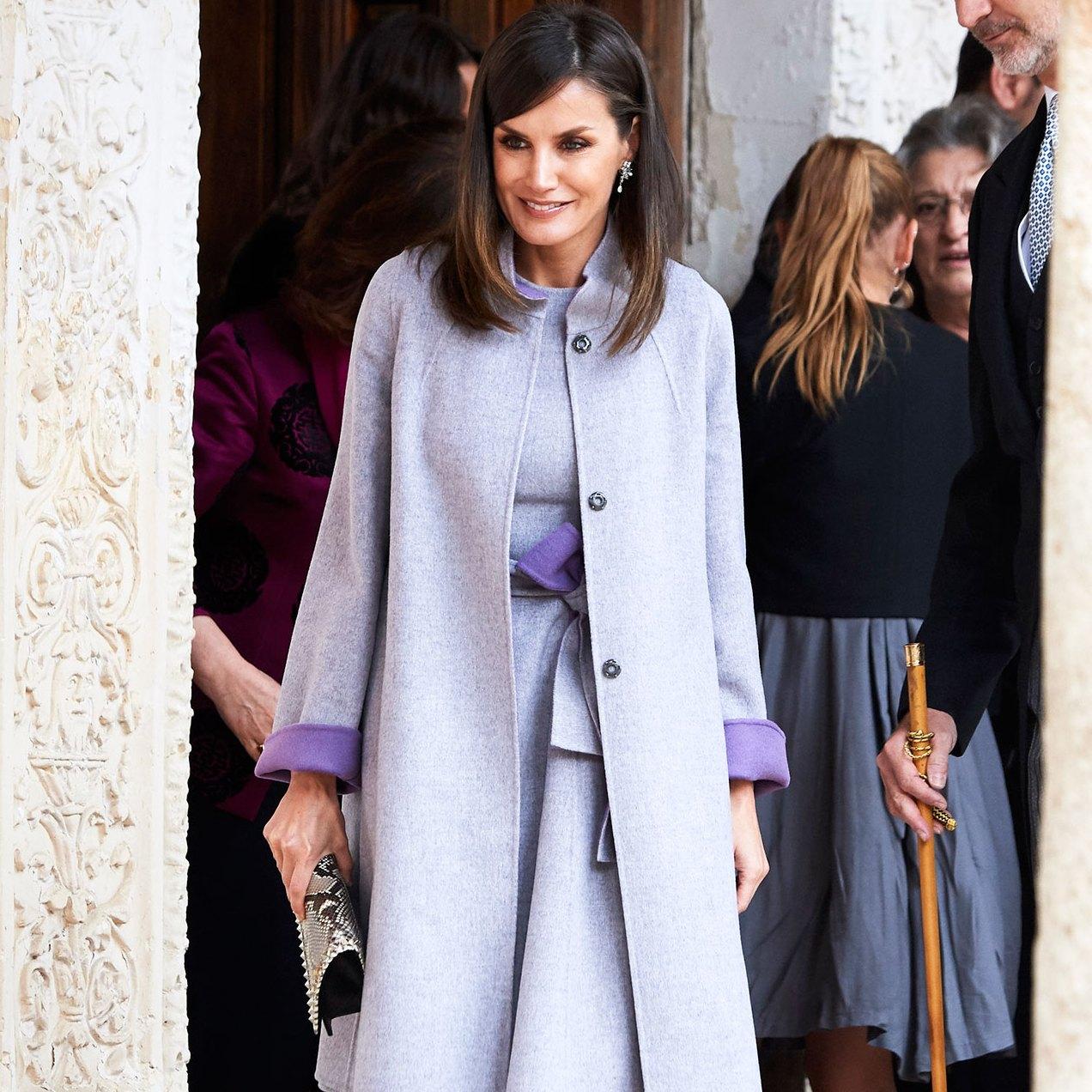 Queen Letizia of Spain Queen Letizia Makes a Lavender Outfit Look Grown-Up