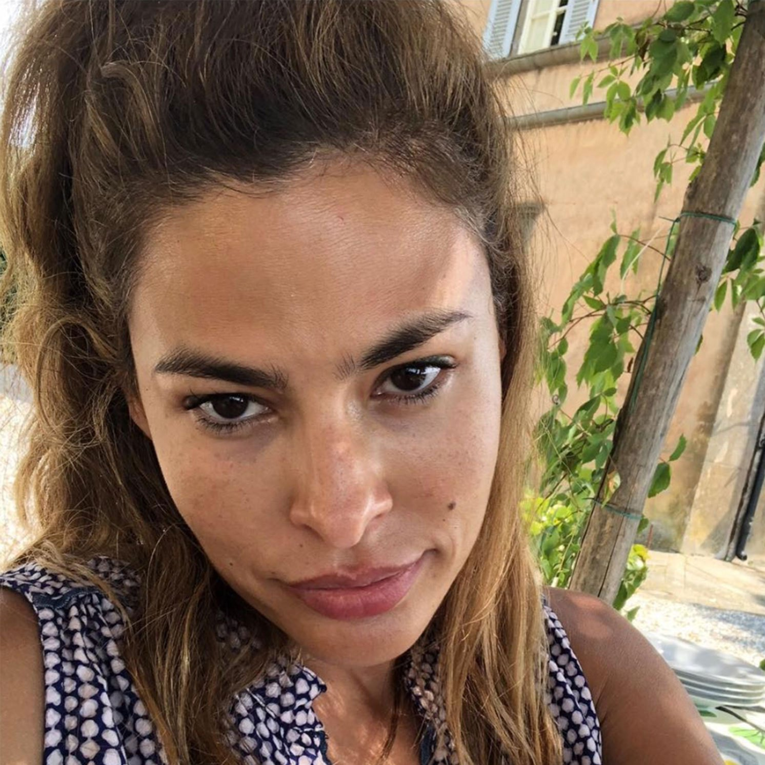 Eva Mendes Shows Off Her Freckles in Rare Selfie