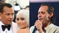 Alex Rodriguez Sits Between Fiancee Jennifer Lopez and Her Ex-Husband Marc Anthony