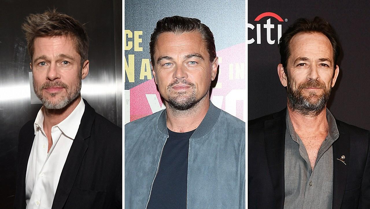 Brad Pitt Leonardo DiCaprio Luke Perry Set